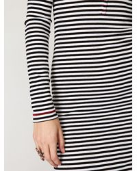Free People Black Costas Striped Maxi Dress