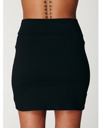 Free People - Black Stretch Bodycon Mini Skirt - Lyst