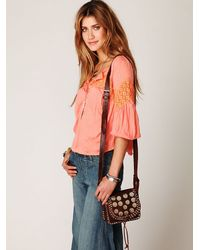 Free People | Brown Studded Moroccan Crossbody | Lyst