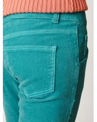 Free People | Blue Lace Up Cord Skinny | Lyst