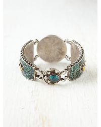 Free People - Green Treviso Stone Bracelet - Lyst