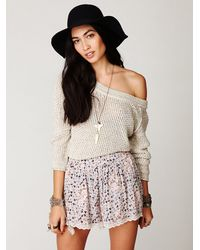Free People | Red Downtown Cut Off | Lyst