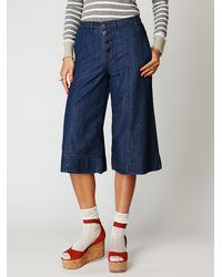 Free People - Blue Vintage Chambray Gaucho - Lyst