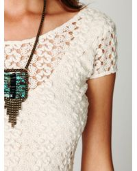 Free People White Cap Sleeve Gypsy Lace Dress