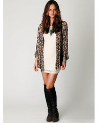 Free People | White Cap Sleeve Gypsy Lace Dress | Lyst