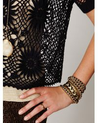 Free People | Black Fp New Romantics Bloom Crochet Top | Lyst