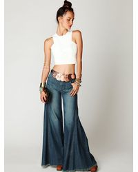 Free People White Leather Crop Top