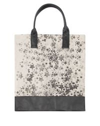 Simeon Farrar   Gray Star Cluster Canvas And Leather Tote Bag   Lyst