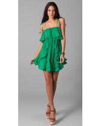 T-bags - Green Lucia Mini Dress - Lyst