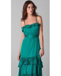 Temperley London   Blue Long Pleated Venus Dress   Lyst