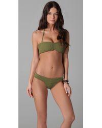 Tori Praver Swimwear - Green Betty Bikini Top - Lyst