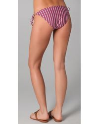 Tory Burch - Pink Striped String Bikini Bottoms - Lyst