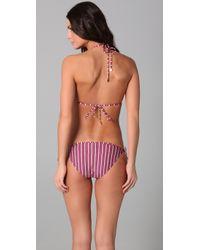 Tory Burch | Pink Striped String Bikini Top | Lyst