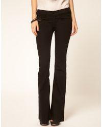 DIESEL | Black Louvboot Bootcut Jeans | Lyst
