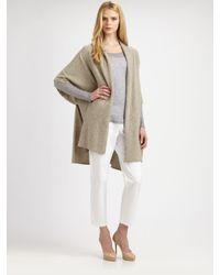 Eileen Fisher | Gray Supersoft Yak/Wool Cape | Lyst