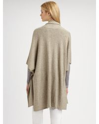 Eileen Fisher - Gray Supersoft Yak/Wool Cape - Lyst