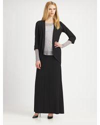 Eileen Fisher Black Stretch Maxi Skirt