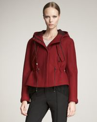 Jason Wu | Red Lace-trim Parka | Lyst