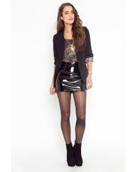Nasty Gal | Black Vinyl Moto Skirt | Lyst
