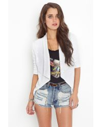 Nasty Gal | White Sequin Crop Jacket | Lyst