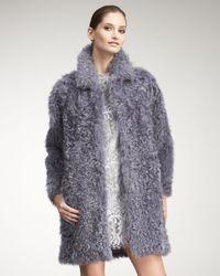 Philosophy di Alberta Ferretti | Purple Kalgan Shearling Coat | Lyst