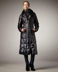 Rainforest | Black Long Puffer Coat | Lyst