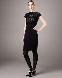 RED Valentino | Black Lace-top Dress | Lyst