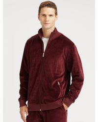 Saks Fifth Avenue | Purple Velour Track Jacket for Men | Lyst