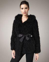 Tasha Tarno - Black Kalgan Lamb Hooded Jacket - Lyst