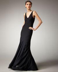 Theyskens' Theory | Black Silk Gown | Lyst