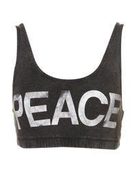 TOPSHOP | Black Peace Bra Top | Lyst