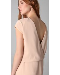 Adam Lippes | Pink Sheath Dress with Open Back | Lyst