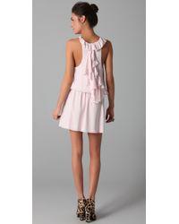 Alice + Olivia - Pink Alaina Drop Waist Dress - Lyst