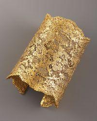 Aurelie Bidermann - Metallic Lace Cuff, Gold - Lyst