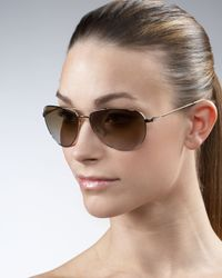 Barton Perreira | Brown Five-star Aviator Sunglasses | Lyst