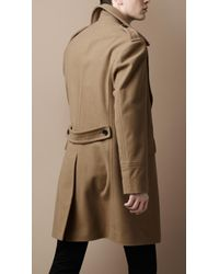 Burberry Brit - Natural Wool Officer Coat for Men - Lyst