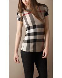 Burberry Brit | Natural Check Short Sleeve T-shirt | Lyst