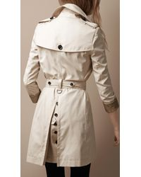 Burberry Brit Natural Oversize Collar Trench Coat