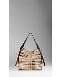 Burberry | Brown Medium Haymarket Check Tote Bag | Lyst
