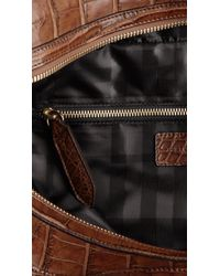 Burberry | Brown Medium Tab Alligator Tote for Men | Lyst