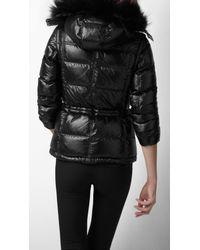 Burberry Sport - Black Fur Trim Ski Jacket - Lyst