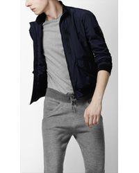 Burberry Sport | Blue Packable Mesh Lined Blouson Jacket for Men | Lyst