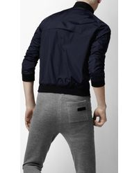 Burberry Sport - Blue Packable Mesh Lined Blouson Jacket for Men - Lyst