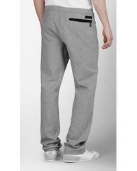 Burberry Sport - Gray Cotton Running Trousers for Men - Lyst