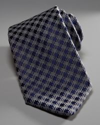 Charvet | Gray Houndstooth Tie for Men | Lyst