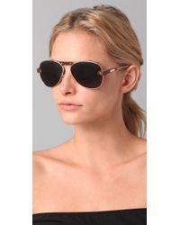 Chloé - Brown Tamaris Aviator Sunglasses - Lyst