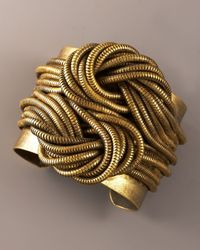 DANNIJO - Metallic Knotted-chain Cuff - Lyst