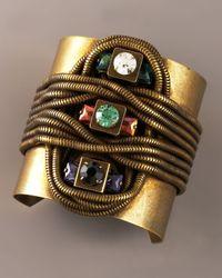DANNIJO | Metallic Multi-stone & Snake Chain Cuff | Lyst