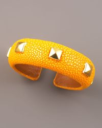 DANNIJO - Studded Stingray Cuff, Yellow - Lyst