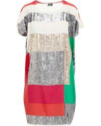 DKNY | Multicolor Short Sleeve Sequin Shift Dress | Lyst